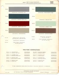 paint chips 1952 ford truck lincoln mercury ford