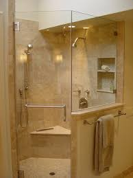 Corner Shower Glass Doors Bathroom Design Traditional Bathroom With A Frameless Shower
