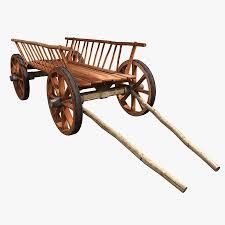 wooden cart 3d model 20 3ds obj fbx max free3d