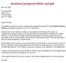 business proposal letter example sample business letter of intent