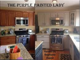 painted cabinets before and after painting oak kitchen cabinets before and after 1000 ideas about