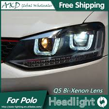 volkswagen xenon akd car styling for vw polo headlights 2009 2015 gti led headlight