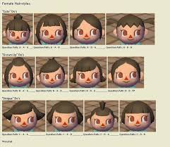 acnl starter hair guide hairstyle guide animal crossing city folk animal crossing game