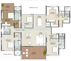3 Bhk Apartment Floor Plan by 3 Bhk 2330 Sq Ft Apartment For Sale In Kalpataru Jade Residences