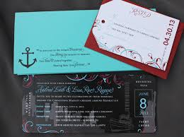 cruise wedding invitations turquoise black new york swirls yacht cruise ticket