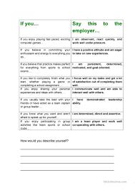 Gap In Career Resume 43 Free Esl Job Interview Worksheets