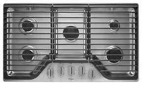 Kitchenaid Gas Cooktop Accessories 36 Inch 5 Burner Gas Cooktop With Fifth Burner Whirlpool