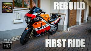hero honda cbr honda cbr 400rr rebuild first ride youtube
