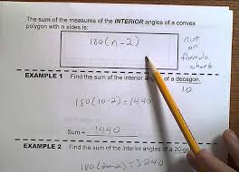 Interior Angle Sum Of A Decagon Geometry Topic 5 3 Interior Angles Of Polygons Youtube