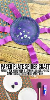 spider paper plate craft for halloween that is cute u0026 easy to make