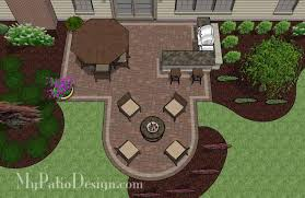 My Patio Design Creative Backyard Patio Design With Grill Station Bar 530 Sq Ft