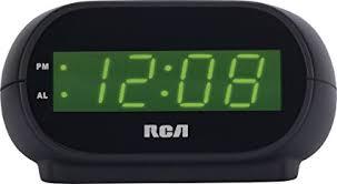 night light alarm clock amazon com rca digital alarm clock with night light home audio