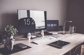 minimalist home office workspace desk setup free image download