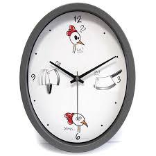horloge cuisine ludik grise