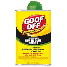 Car Upholstery Glue Goof Off 4 Oz Super Glue Remover Fg677 The Home Depot