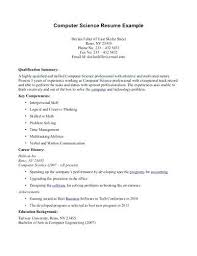 computer science student resume sample health science student