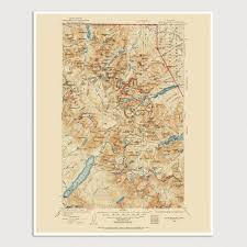 Great Smoky Mountains National Park Map Great Smoky Mountains National Park Map Art Print 1941 Antique