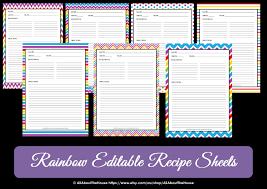 free printable recipe pages editable printable chevron recipe template recipe card