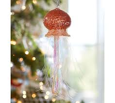 tinsel jellyfish ornament pottery barn
