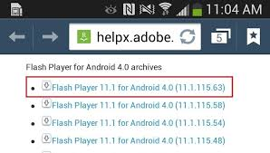 flash player 11 1 apk adobe flash player 11 1 for android vodka