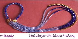 tutorial necklace making images How to make multi layer necklace with dori jewelry making jpg