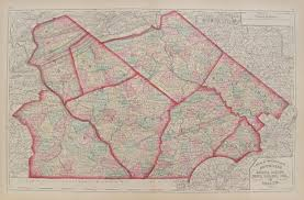 Chester Pa Map Antique Maps Of Pennsylvania Counties