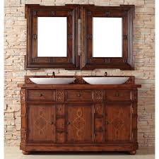 Distressed Bathroom Vanities Bathroom Unique Wood Distressed Bathroom Vanity For Double Sinks