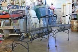 Vintage Woodard Patio Furniture by Vintage Large Wrought Iron Peacock Chair Patio Porch Swing Outdoor