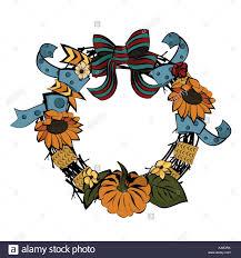 vintage wreath template thanksgiving day christian religion retro