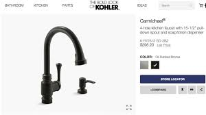 kohler carmichael kitchen faucet fix youtube