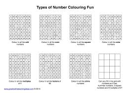 types of number practice colouring fun u2013 great maths teaching ideas