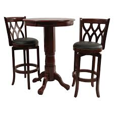 Patio Furniture Pub Table Sets - boraam 3 piece florence sunburst pedestal pub table set hayneedle