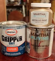 tutorial on martha stewart metallic paint for furniture petticoat