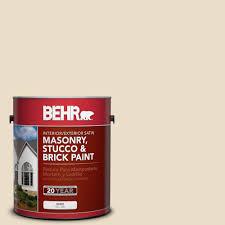 behr 1 gal 710c 2 raffia cream satin interior exterior masonry