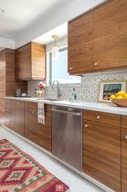 mid century modern walnut kitchen cabinets mid century modern kitchen renovation avs home kitchen reveal