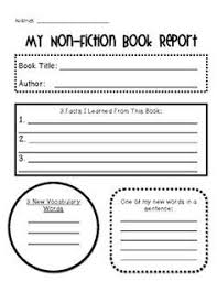fiction book report template free printable book report templates non fiction book report doc