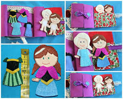 68 frozen images felt crafts quiet books