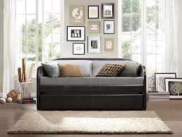 amazon com homelegance 4950 daybed with trundle dark brown bi