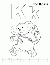 letter k coloring pages coloring home