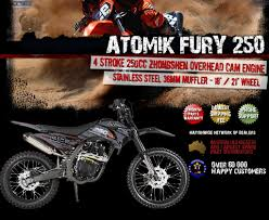 motocross bikes on ebay new atomik fury 250cc pit dirt bike motor trail bike mx terrain