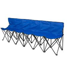 Athletic Benches 6 Seat Folding Bench Sports Sideline Chairs Portable With Carrying