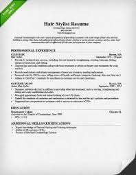 hair stylist resume exle hair stylist cover letter sle 3 writing tips resume companion