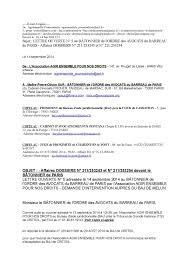 bureau d ordre calaméo affaires 211 253243 et 211 253254 devant le bâtonnier de