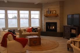 wood look ceramic tile corner fireplace degraaf interiors