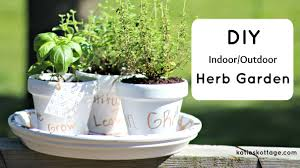 diy herb garden for indoor outdoor use katieskottage