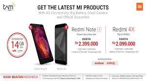 Erafone Redmi 4   redmi 4x dan redmi note 4 kini tersedia di erafone tribun medan