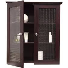 Wall Cabinet Glass Door Windham Wall Cabinet With Two Glass Doors By Essential Home