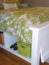 Rooms To Go Storage Bed Plans For A Queen Size Storage Bed With A Hinged Foot Board For