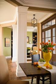 Dining Room Columns Dining Room Columns Entry Contemporary With Wood Wallpaper Rolls