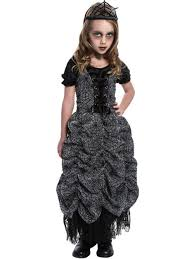 spider web coffin princess girls fancy dress halloween kids child